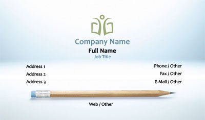 Pencil Education Business Card Template